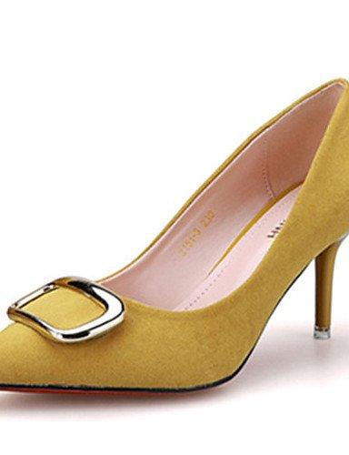 WSS 2016 Chaussures Femme-Décontracté-Noir / Jaune / Vert / Rose / Gris-Talon Aiguille-Talons-Talons-Laine synthétique black-us5.5 / eu36 / uk3.5 / cn35