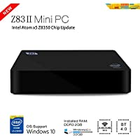 BoLv Z83II Mini PC Intel Atom x5-Z8350 Processor (2M Cache, up to 1.84 GHz) Intel HD Graphics Windows10 OS DDR3 2GB/ Windows(C:) 32GB 1000Mbps LAN Bluetooth 4.0 WIFI IEEE 802.11a/b/g/n 2.4G+5.8G intel mini compute