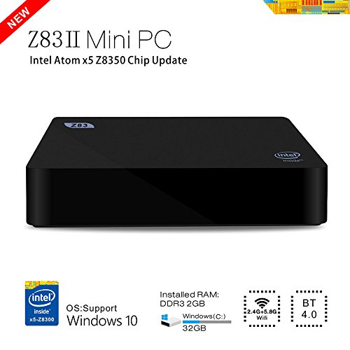 Foto BoLv Z83II Mini PC Intel Atom x5-Z8350 Processor (2M Cache, up to 1.84 GHz) Intel HD Graphics Windows10 OS DDR3 2GB/ Windows(C:) 32GB 1000Mbps LAN Bluetooth 4.0 WIFI IEEE 802.11a/b/g/n 2.4G+5.8G intel mini compute