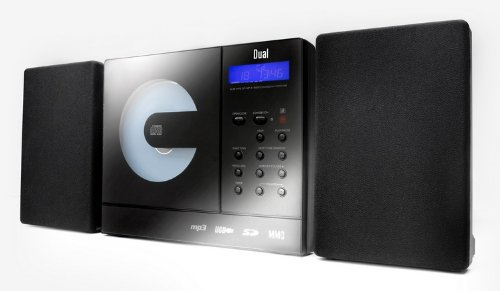 Dual Vertical 150 Kompaktanlage (CD/MP3/WMA-Player, UKW-Tuner, USB, SD-Kartenslot) Schwarz