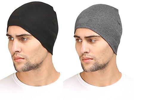 Generic Thug-Life Cotton Helmet Liner / Skull Cap For Men (Pack Of 2)