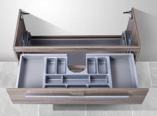 Intarbad - Waschtisch Unterschrank zu Villeroy & Boch Subway 2.0 100 cm, mit Kosmetikeinsatz Hacienda Schwarz