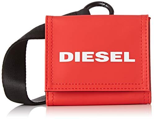 Diesel yoshino loop, portafoglio uomo, rosso (fiery red), 10x2.5x11 centimeters (w x h x l)