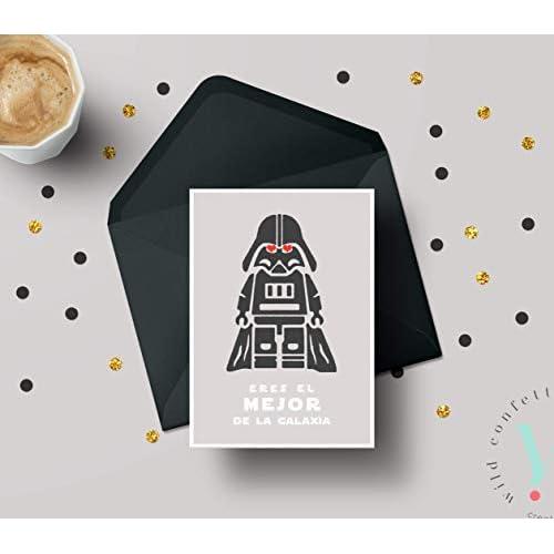Tarjeta San Valentín Hombre Novio Marido Pareja Día del Padre Postal Star Wars 2