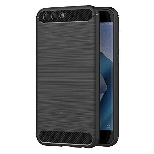 ASUS Zenfone 4 ZE554KL Hülle, AICEK Schwarz Silikon Handyhülle für Zenfone 4 ZE554KL Schutzhülle Karbon Optik Soft Case (5,5 Zoll)