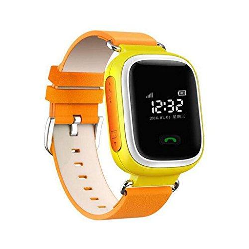 Q60 Orologi da Polso Smart Watch Chiamata Sicurezza Bambini Localizzatori GPS GPRS Locator Inseguitore - Arancione