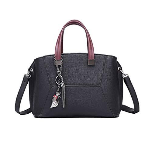 Handtasche, Mode-Trend tot Tasche einfache Retro-lässige Persönlichkeit hundert Schulterschale tragen weibliche Tasche,Black