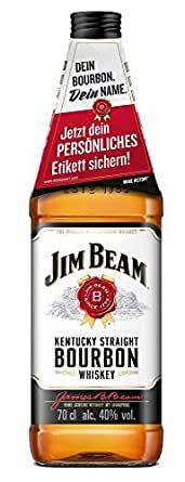 jim beam wei kentucky straight bourbon whiskey 1 x 0 7 l bier wein spirituosen. Black Bedroom Furniture Sets. Home Design Ideas