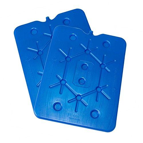 ToCi XXL Kühlakku 2er Set | Freezeboard (32x25 cm) mit je 800 ml | 2 Blaue Kühlelemente Iceakku für die Kühltasche Kühlbox Eisbox