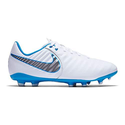 Nike Unisex-Kinder Legend 7 Academy FG Fußballschuhe Weiß (White Blue Hero-Chrome 107), 37 EU