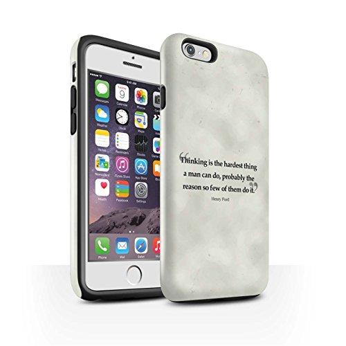 STUFF4 Glanz Harten Stoßfest Hülle / Case für Apple iPhone 6 / Stephen Hawking Muster / Berühmte Zitate Kollektion Henry Ford