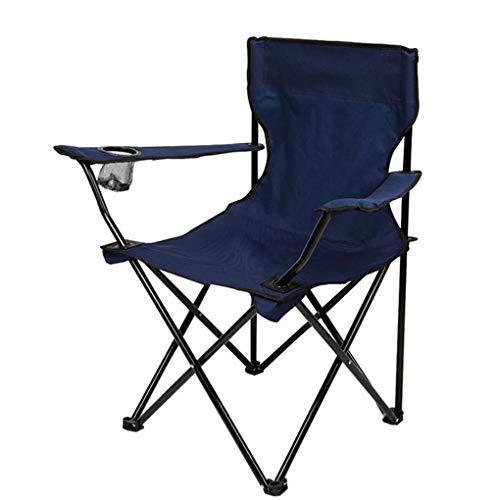 Demino Angeln Hocker Folding Rückenlehne Außen Freizeit Eindickung Oxford Cloth Erwachsener Sketching Armlehne Strand-Stuhl Navy blau 50 * 50 * 80cm - Stuhl Navy Computer