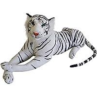 Felpa Color de rosa Grandes felinos felpa Leopardo Tigre Pantera Diseños und Tamaños - Tigre blanco 80 cm