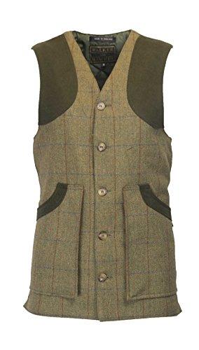 Walker & Hawkes - Herren Country-Weste aus Tweed - für die Jagd geeignet - Waldgrün - Größe XXL -