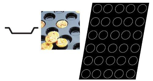 Flexipan 336402 Mini-Quiche Tartlets Nonstick Sheet Mold by Matfer Bourgeat Flexipan Non-stick Sheet