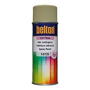 RAL 1015 IVOIRE CLAIR Mat (BELTON) (Bombe peinture 400 ml) - bombe aerosol reparation peinture carrosserie voiture teintes standrard et RAL (reference couleur constructeur 150 ou 400 ml)