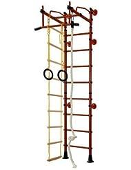 Equipamiento Deportivo De Acero Inoxidable Barras De Pared Ajuste Superior M2 - rojo, para espacios 220-270 cm
