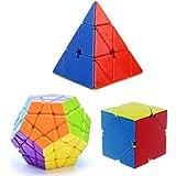Funs (TM) Pack cubos: Megaminx,Pyraminx Skweb cube.
