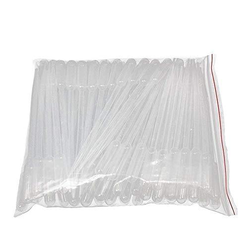 5ml Klar Kunststoff Einweg Übertragen Flüssigkeit Pipettieren Pipetten Droppers, 100 Stück