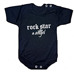 "Body para bebé ""Rock Star & ángel - Blanco y Negro Cuerpo Limited Edition negro negro Talla: 74/80"