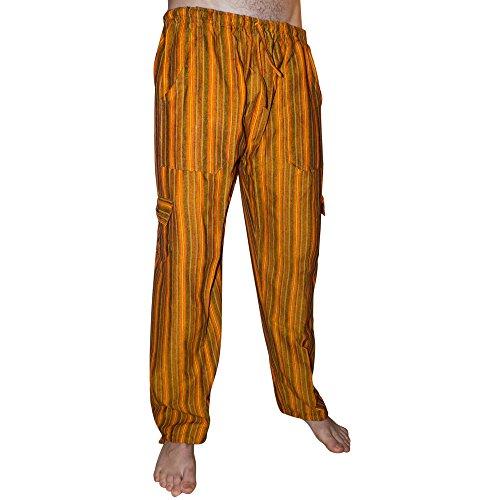 Pantalons de coton colorés. Matière fraîche légère. Orange