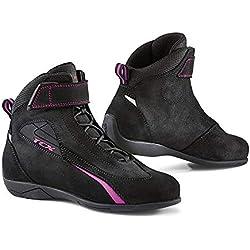 TCX Lady Sport - Botas de Moto (Talla 38), Color Negro y Rosa