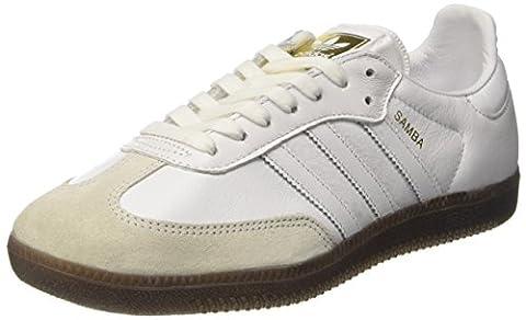 adidas Damen Samba OG Sneaker, Weiß (Footwear White/Footwear White/Gum), 39 1/3 EU