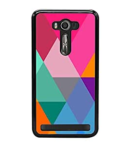 Fiobs Designer Back Case Cover for Asus Zenfone 2 Laser ZE550KL (5.5 Inches) (jaipur rajasthan african america cross pattern)