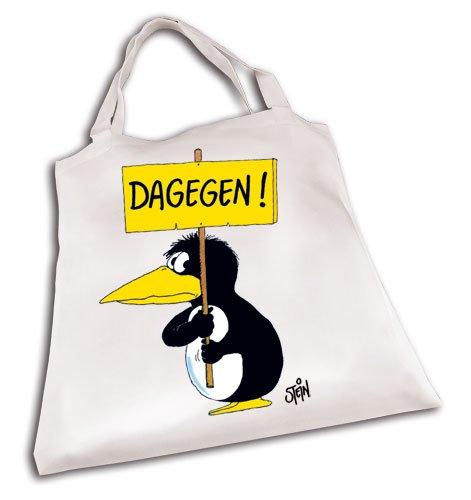 Uli Stein Stofftasche DAGEGEN