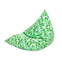 Pixels Design Filled Pyramid Shaped Bean Bag Lounger Gaming Chair - Green