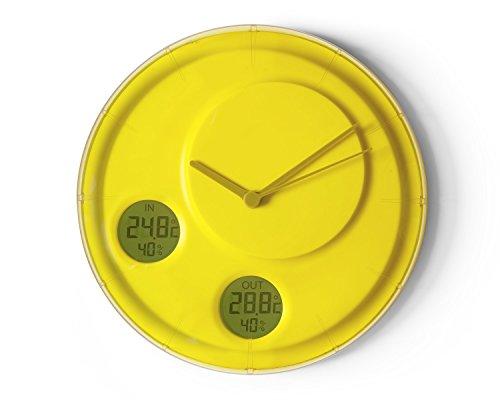 Lexon LR137J5 Flow Horloge Murale, ABS/PC, Jaune, 28 cm