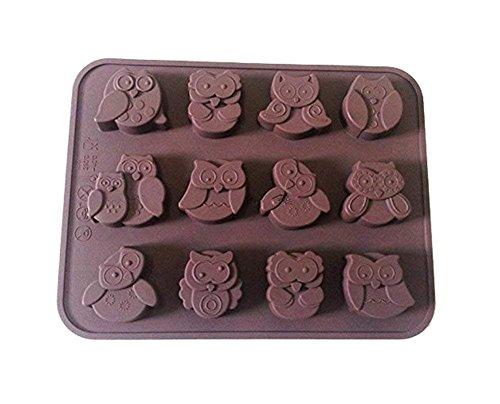 Power ferhd 12 Eulen Silikon Kuchen dekorieren Süßigkeiten/Kekse/Schokolade/Seife Schwamm Dose