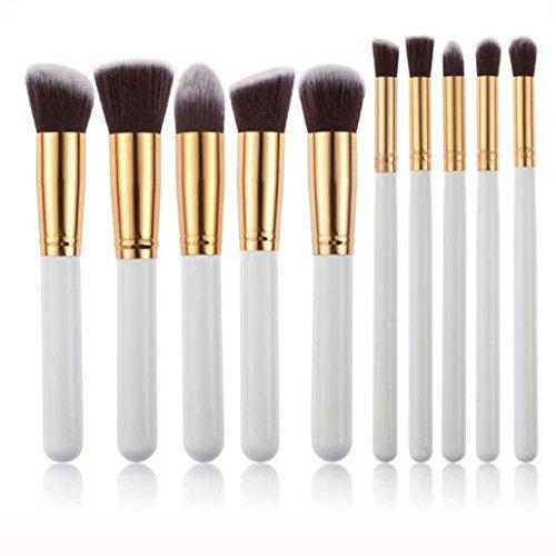 MuSheng(TM) Pinceaux pour le visage l'ombre de 10pcs professionnels cosmétiques maquillage la brosse douce sourcils kit + sac sac