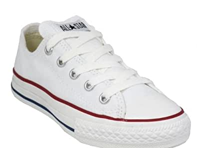 Converse all star lo Kids size 7.5uk in White New Bagged: Amazon ...