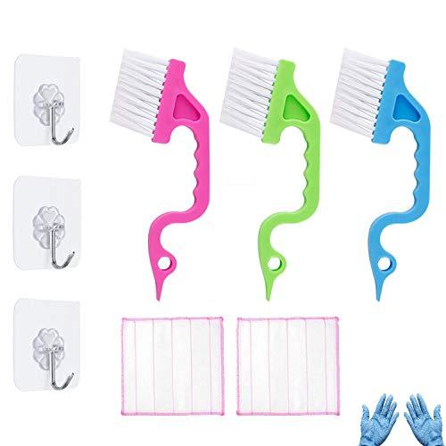 Ungfu Mall 10PCS Nut Spalt Reinigungsbürste Wäscher Elbow Reinigungsbürsten Staub Reinigungstuch Lappen Transparente Haken