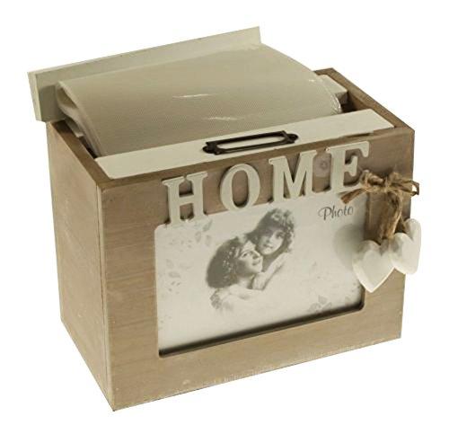 Fotokiste aus Holz, rustikaler Shabby Chic 72Bilder 6x 4 24 Foto Cube