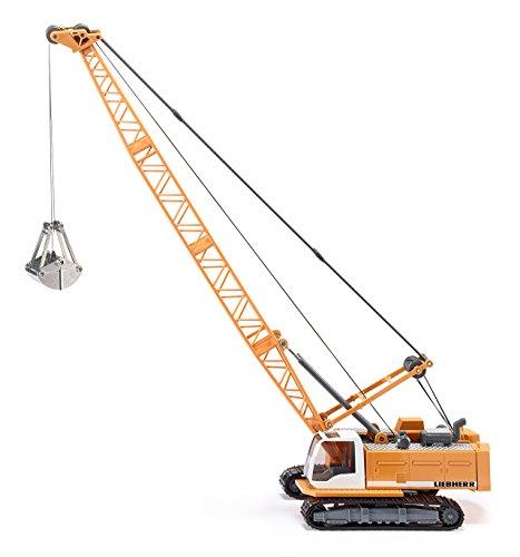 SIKU 3536, Pelle mécanique Liebherr, 1:50, Métal/Plastique, Jaune, Pelle ouvrante, Avec treuil à câble rotatif