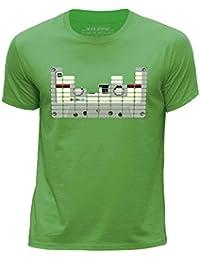 STUFF4 Boy's Round Neck T-Shirt/equalizer/Tape/CS