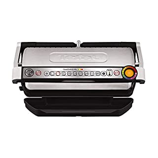 Tefal GC722D40 Optigrill Plus X-Large Grill with 9 Automatic Settings and Cooking Sensor, Stainless Steel, Non Stick Removable Plates