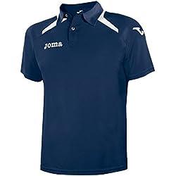 Joma Champion II - Polo para hombre, color azul marino / blanco, talla M