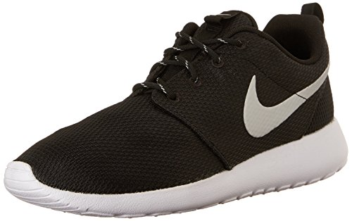 Nike Wmns Roshe One, Chaussures Femme Noir (Black/Metallic Platinum/White)