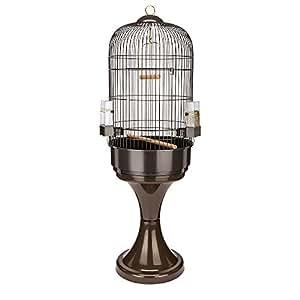 Ferplast Max 6 Cage avec Support pour Perroquet Noir Diamètre 53 x 165 cm