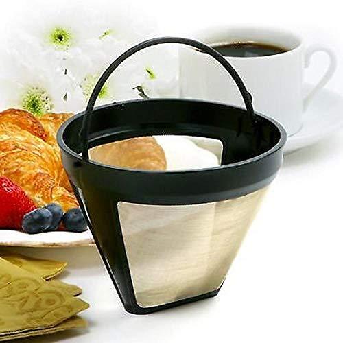 bare Kaffeefilter Tropfer Edelstahl Permanent Kaffeemaschine Nachfüllbarer Korb Griffe Waschbar Cafe Tools ()