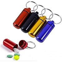 MAXGOODS 5 Stk Wasserdichte Aluminium Pille Box Fall Flasche Drug Schlüsselbund Container, Zufällige Farben preisvergleich bei billige-tabletten.eu