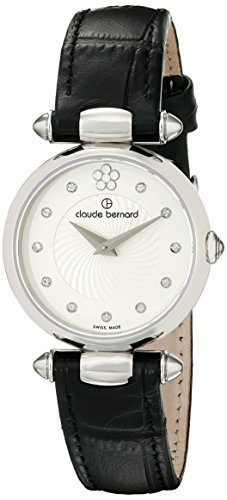 Claude Bernard Women's 20501 3 APN2 Dress Code Analog Display Swiss Quartz Black Watch