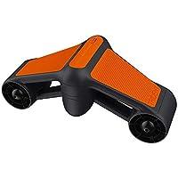 A prueba de agua eléctrico submarino Vespa snorkel hélice Potente doble potencia del propulsor se puede equipar con Deportes cámara Equipo de Deporte SKYJIE (Color : Orange)