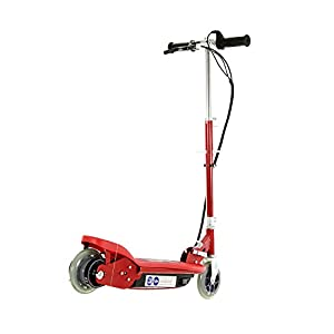 AirWave Electric Scooter - Red, Ride on Electric Scooter, Stylish Footplate Design