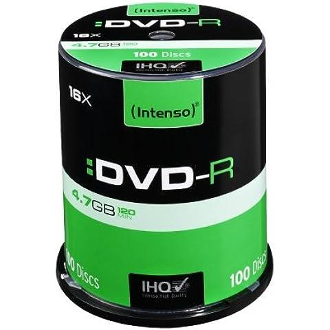 Intenso DVD-R 4.7GB - DVD+RW vírgenes (4,7 GB, DVD-R, 16x, Caja para pastel)