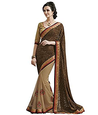 Gorgeous Brown Brasso Saree with Blouse