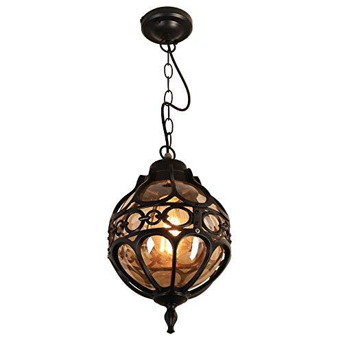 LIFH Mini Ball Glas im Freien hängenden Lampen amerikanische Wasserdichtes Kronleuchter Retro Außen Haushalt Veranda Deckenleuchte for den Außenbereich Balkon Treppe Hang Laterne